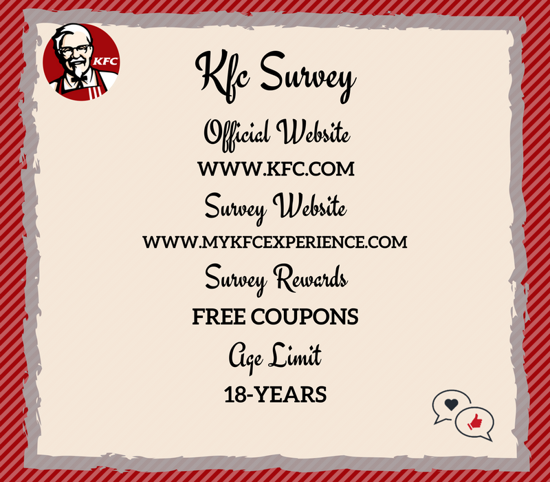 KFC survey rewards