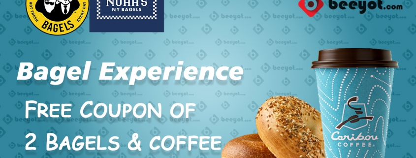 BagelExperience offer free 2 bagels with a large coffee cup