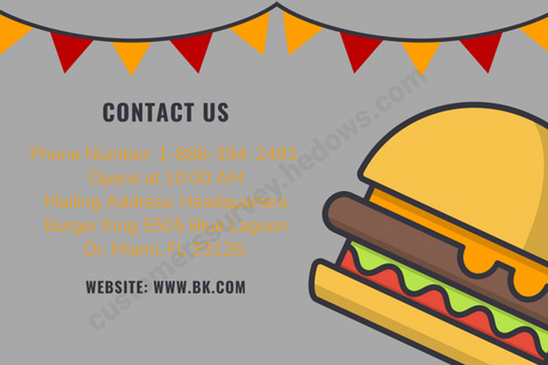 MyBKExperience Contact information