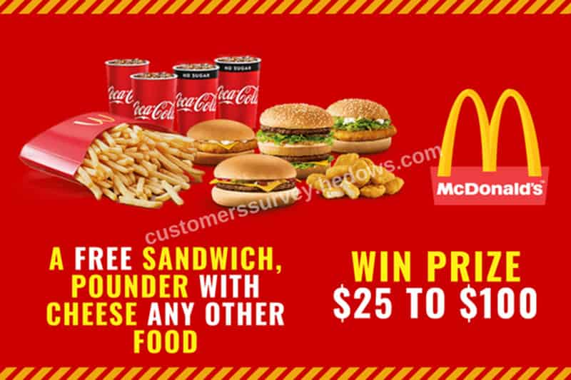 McdVoice Survey Survey & Sweepstakes Survey & Sweepstakes