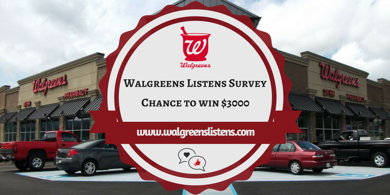 Walgreens Survey Survey & Sweepstakes Survey & Sweepstakes